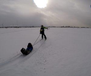 Snowkiting in Yuzawa